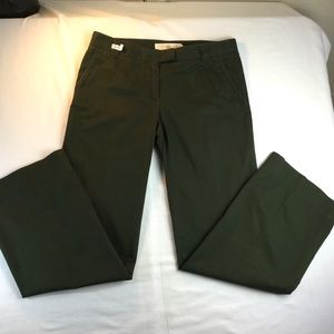 J. Crew Chino Broke -In City Fit Army Green Pants